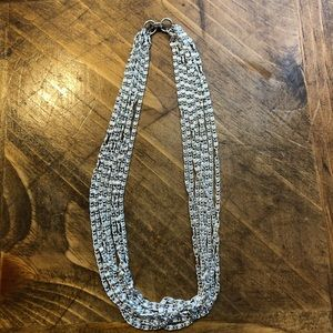 Sarah Coventry Silver Multi Strand Swirl Necklace